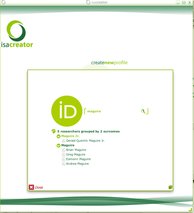 Search for an ORCID record via a dedicated interface.